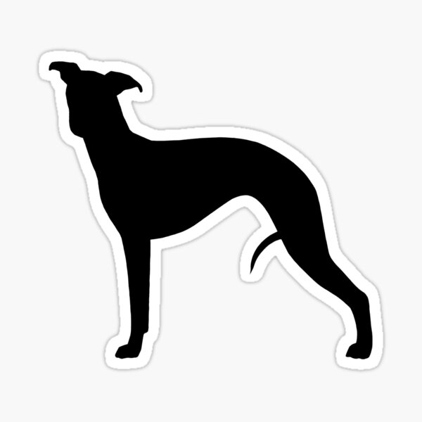 Whippet Silhouette(s) Sticker