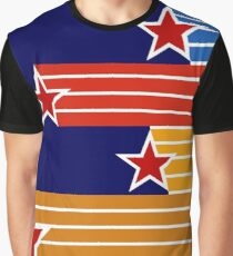 80s Flying Stars of New Zealand Graphic T-Shirt