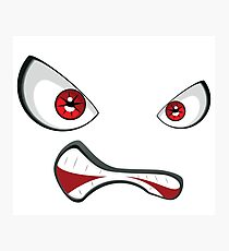Evil face with red eyes 2 Photographic Print