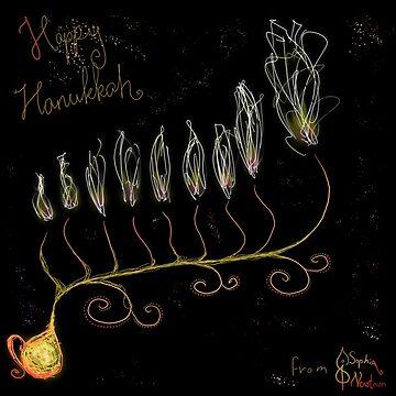Hanukkah flower in space by ivrona