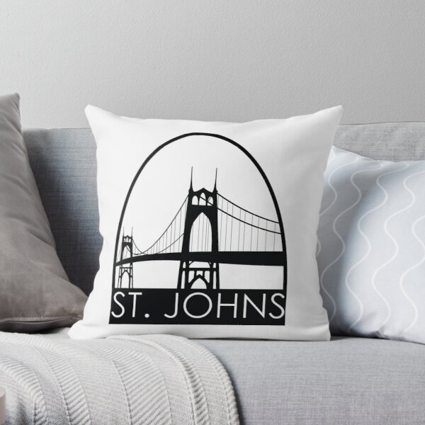 Bridge City: St. Johns Throw Pillow