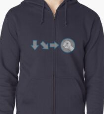 Special Combo Fight Move Zipped Hoodie