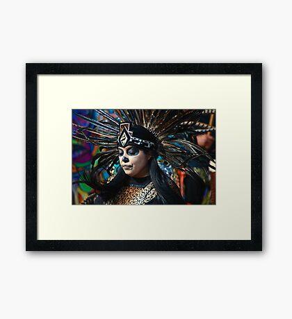 Dia do Los Muertos Dancer Framed Print