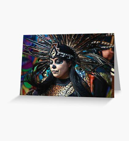 Dia do Los Muertos Dancer Greeting Card
