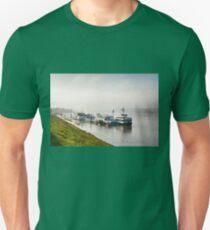 Tourist ferry ships at Vistula River T-Shirt