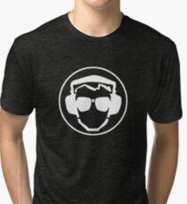Headphones & Pilot Specs - WHITE Tri-blend T-Shirt