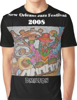 2008 New Orleans Jazz Fest Poster Graphic T-Shirt