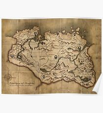 Skyrim map Poster