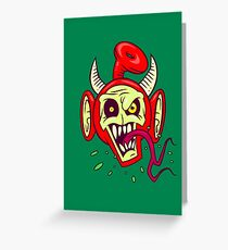 Evil Dead Po Greeting Card