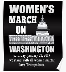 Women's March on Washington T Shirt Poster