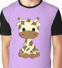 Cute baby giraffe cartoon Graphic T-Shirt