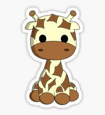 Nette Babygiraffenkarikatur Sticker