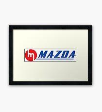 Vintage Mazda Logo Framed Print