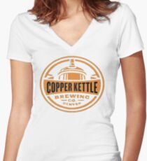 Copper Kettle Women's Fitted V-Neck T-Shirt