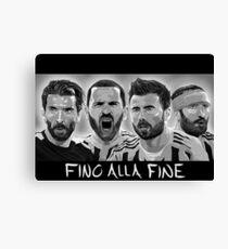 Buffon, Bonucci, Barzagli, Chiellini - Juventus Canvas Print