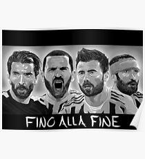 Buffon, Bonucci, Barzagli, Chiellini - Juventus Poster