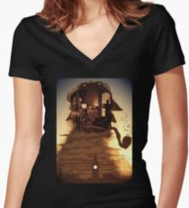 sherlock holmes Women's Fitted V-Neck T-Shirt