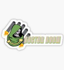 You are beneath DOOM Sticker