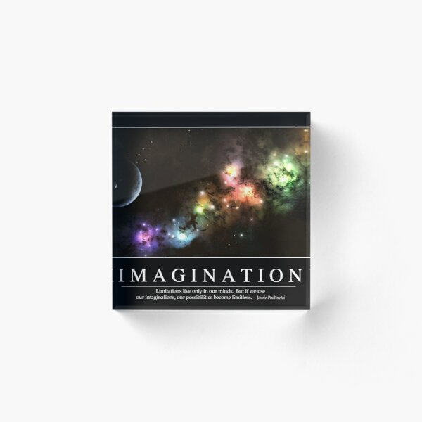 Imagination: Inspirational Quote and Motivational Poster Acrylic Block
