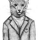 Mr Snow Leopard by Jeanette  Treacy