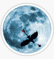Full Moon Flight Sticker