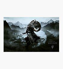 Skyrim warrior  Photographic Print