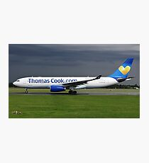 Thomas Cook A330 at Manchester Airport Photographic Print