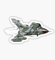 Cartoon Fighter Plane Sticker