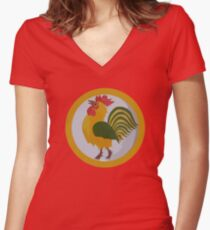 Year of the Rooster Women's Fitted V-Neck T-Shirt