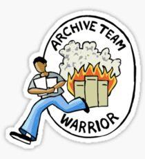 Archive Team Warrior Stickers Sticker