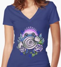 Poliwhirl Women's Fitted V-Neck T-Shirt