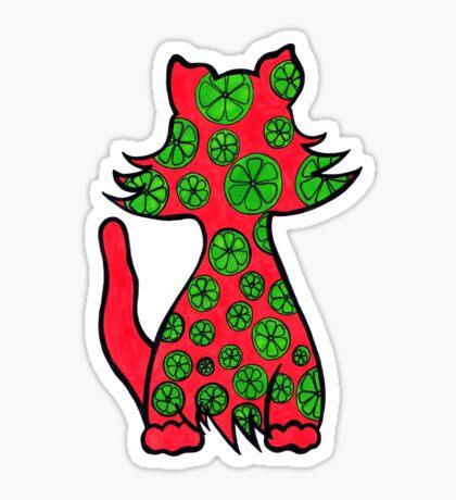 Citrus Puss Sticker