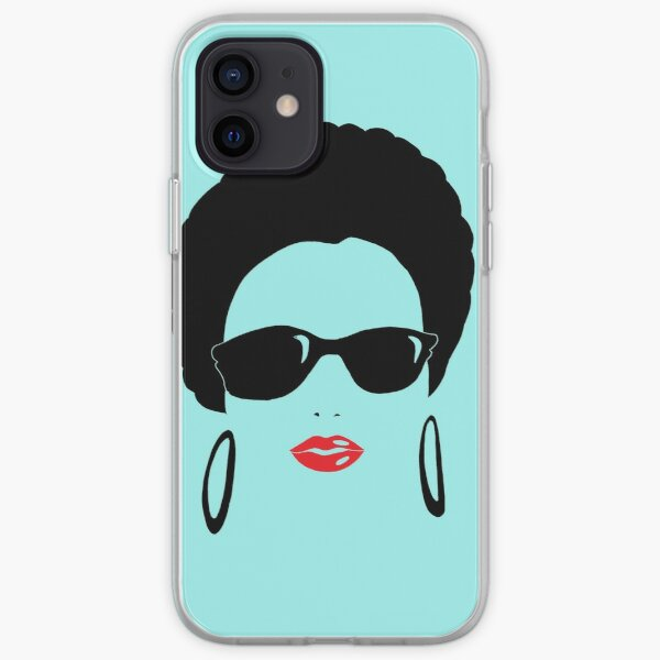 Afro chic with round earrings iPhone Soft Case