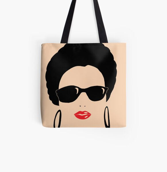 Afro chic with round earrings All Over Print Tote Bag