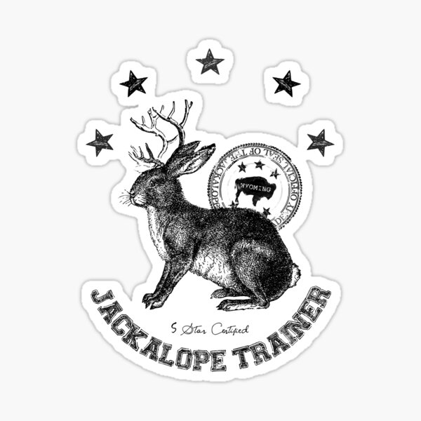 jackalope trainer white background Sticker
