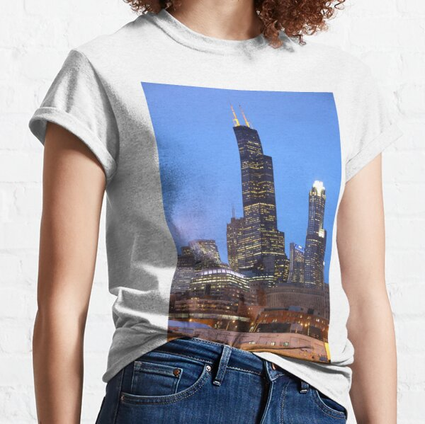 Chicago Loop at dusk Classic T-Shirt