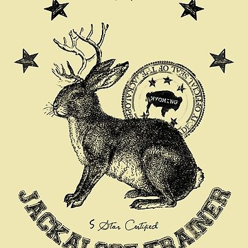 jackalope trainer beige background by hellohappy
