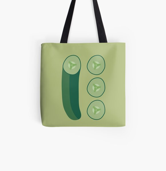 Cucumber All Over Print Tote Bag