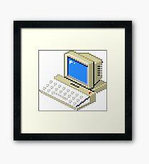 8bit old PC Framed Print