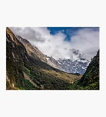 Hollyford Valley Lookout New Zealand Photographic Print