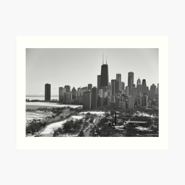 Chicago winter Art Print