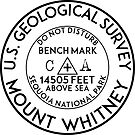 BENCHMARK MOUNT WHITNEY CALIFORNIA SEQUOIA NATIONAL PARK HIKING CLIMBING INYO FOREST SIERRA NEVADA by MyHandmadeSigns