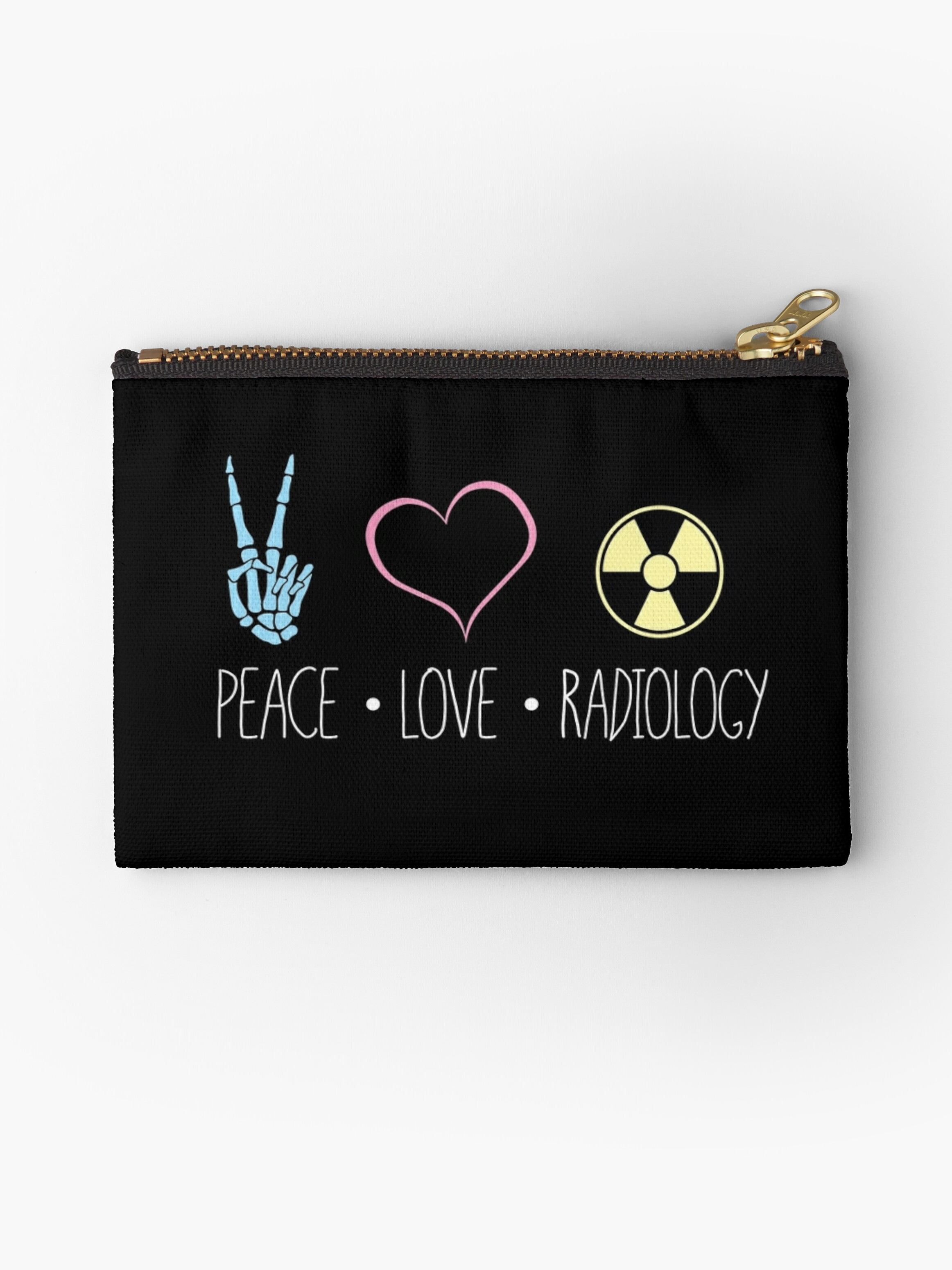 Peace love and radiology rad tech rt studio pouches by scott peace love and radiology rad tech rt by scott jay buycottarizona Image collections