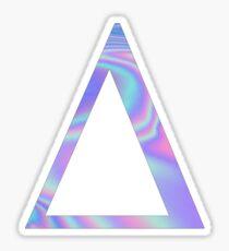 Delta-  Holographic - Greek Letter Sticker