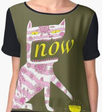 Now Cat Women's Chiffon Top