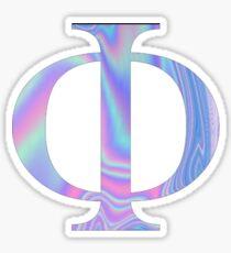 Phi-  Holographic - Greek Letter Sticker