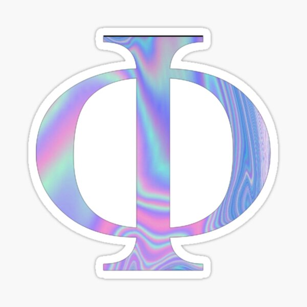 Phi-  Holographic - Greek Letter Sticker