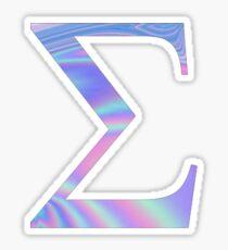 Sigma- holographic- greek letter Sticker