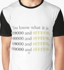 Hexadecimal Black and Yellow Wiz Khalifa  Graphic T-Shirt