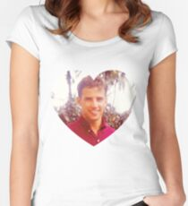 Young Joe Biden Love Women's Fitted Scoop T-Shirt